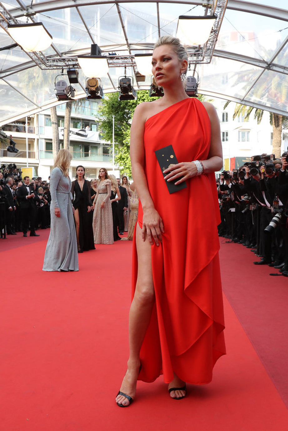 Kate Moss in Vintage Halston at Cannes Film Festival ...