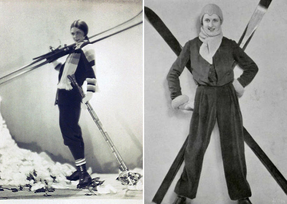 b1620e2112 (L) Ski outfit by the couturier Lucien Lelong