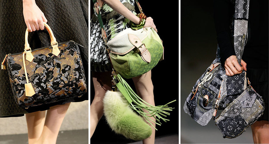 06a0b1bcaf6 Throughout the rest of Jacobs s tenure at Louis Vuitton, he continued to  rework and update the house s monogram bags. Spring 2007 saw an all-denim,  ...