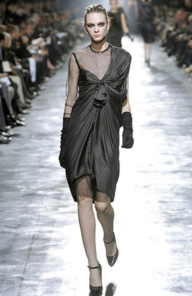 Fall 2008 Lanvin Silk & Chiffon Dress