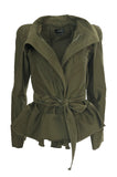 Fall 2014 Isabel Marant Runway Flared Hip Khaki Tie Waist Jacket