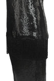 1960s Bill Blass Couture Dense Sequin Fringe Tunic & Skirt Dress Set