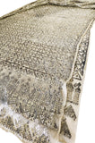 1920s Assuit Diamond & Tassel Design Hammered Metal & Net Scarf