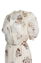 Spring 1981 Christian Dior by Marc Bohan Haute Couture Silk Top & Skirt Set