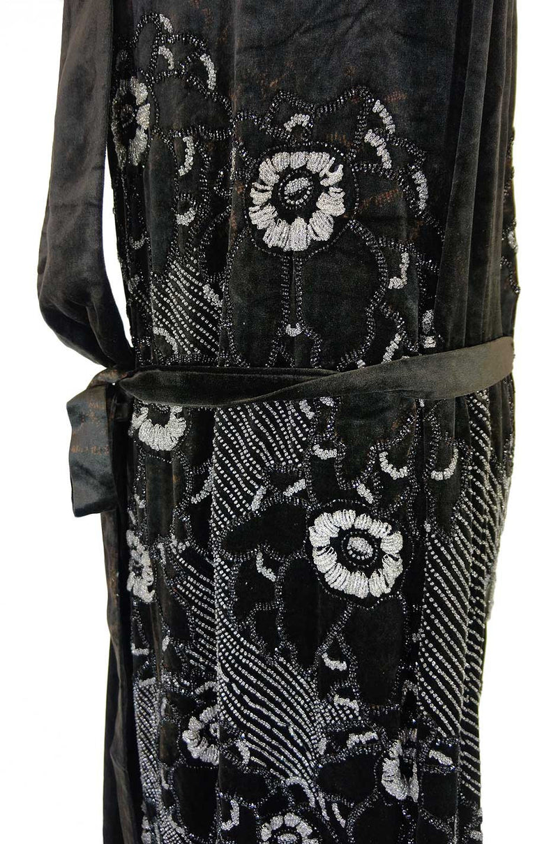 Rare 1920s Couture Rue De La Paix Flapper Dress