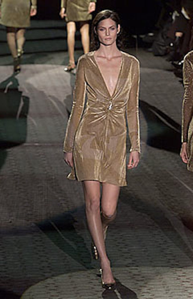 F/W 2000 Tom Ford for Gucci Gold Top