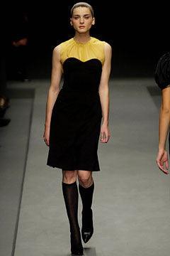 Fall 2002 Runway Look 6 Strapless Prada Dress