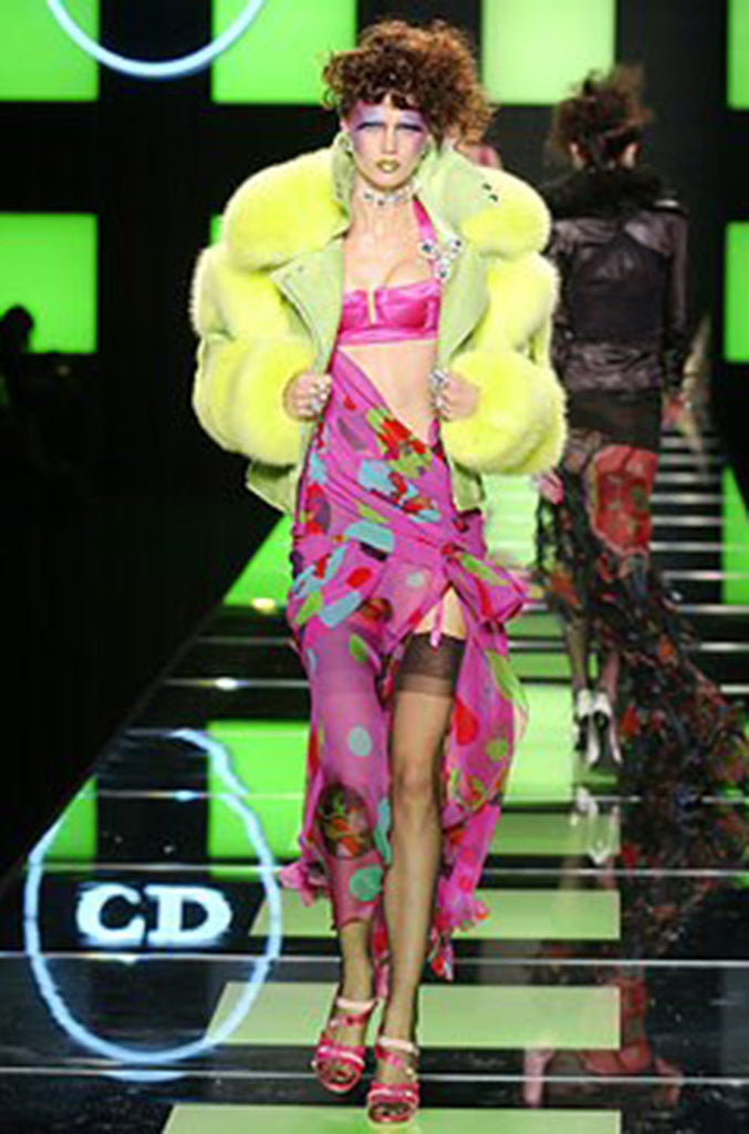 Spring 2004 Runway Pink John Galliano for Dior Dress