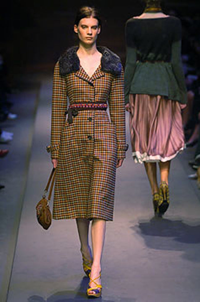 Runway F/W 2004 Prada Coat with Removeable Fur Collar