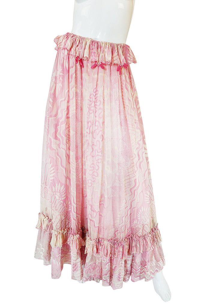 "Rare 1974 ""The Lily"" Collection Zandra Rhodes Dress Set"