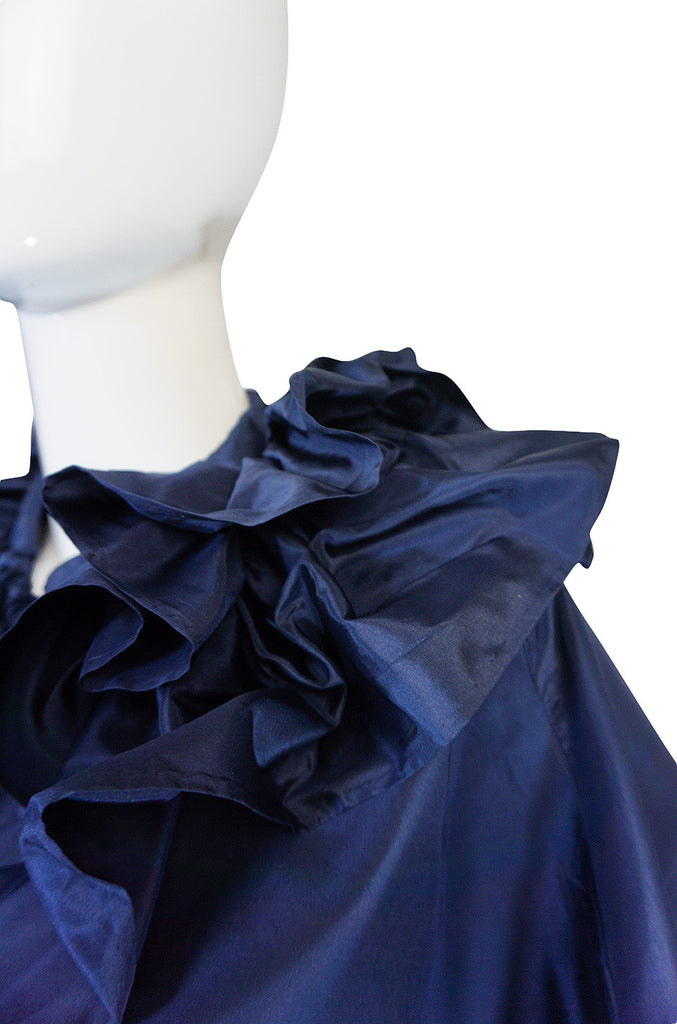 Spectacular 1980s Chanel Silk Tassled Cape and Skirt
