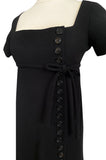 1963 Normal Norell Judy Garland Black Crepe Sheath Button Dress