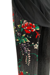 Fall 2001 Jean Paul Gaultier Haute Couture Heavily Beaded & Embroidered Pant w Silk Jersey Top Set
