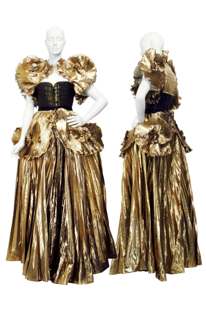 "A/W 1981 Zandra Rhodes ""Elizabethan Collection"" Lame Gown"