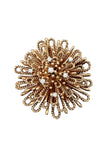 1950s TIFFANY & CO. Diamond Gold Starburst Brooch