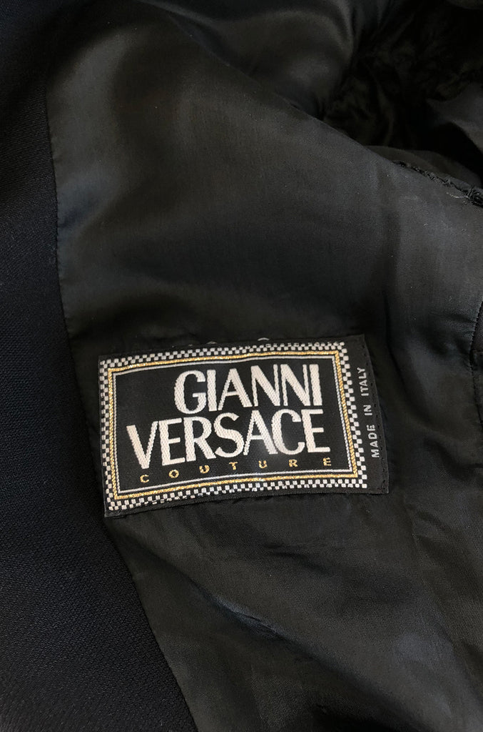 1990s Gianni Versace Couture Sleek & Tailored Black Coat or Dress