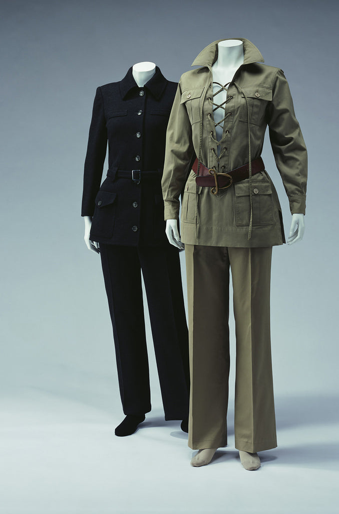 Important 1968-69 Yves Saint Laurent Chocolate Velvet Safari Suit