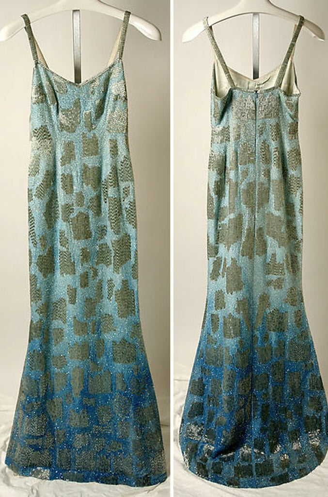 F/W 1994 Todd Oldham Densely Beaded Documented Runway Dress