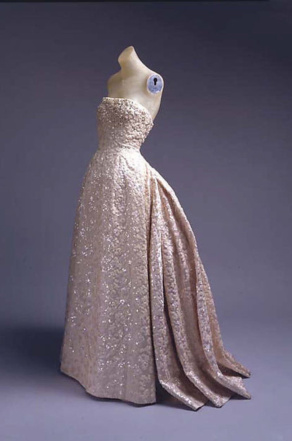 c.1953 Christian Dior Couture Silver & Sequin Fantasty Gown ...