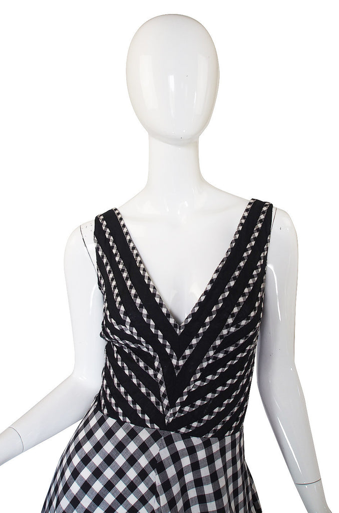 1970s Graphic Jean Varon Check Dress