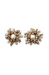 Swarovski & Pearl CHANEL Earrings 1980s