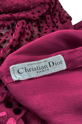 Fall 1980 Christian Dior True Haute Couture Two Piece Silk & Silk Velvet Dress