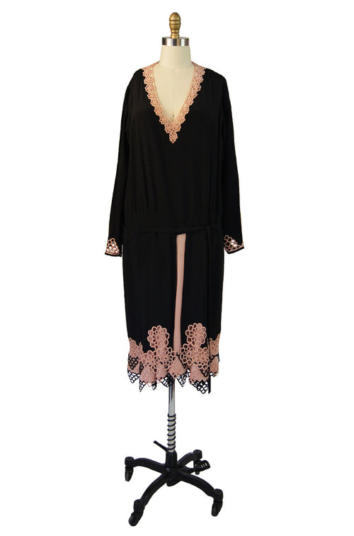 1920s Agnes Adaptation Silk Day Dress