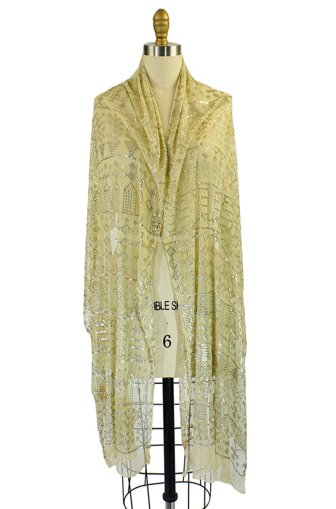 1920s Assuit Scarf Figure & Arrow Pattern