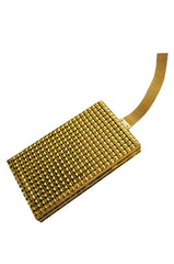 1920s Gold Mesh Compact Flapper Bag