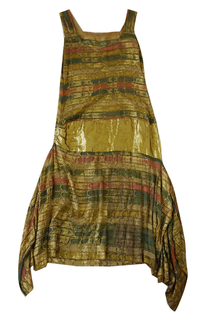 Sublime 1920s Silk & Lame Flapper Dress