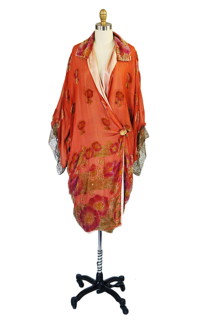 1920s Silk, Velvet & Gold Flapper Coat