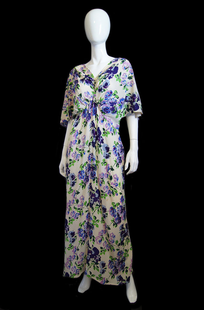 1930s Reversible Bias Cut Silk Gown