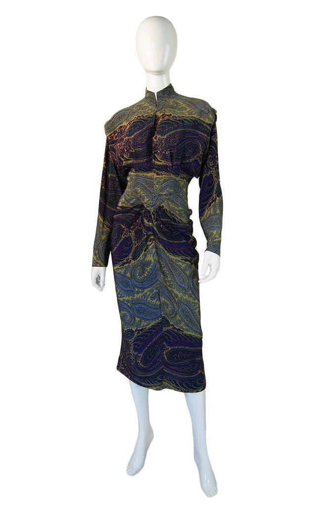 1940s Claudia Young Silk Wiggle Dress