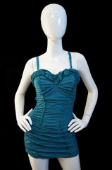 1940s Jantzen Gathered Pin Up Swimsuit