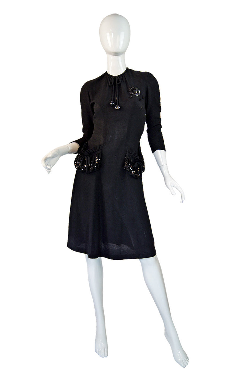 1940s Sequin Pocket R&K Swing Dress