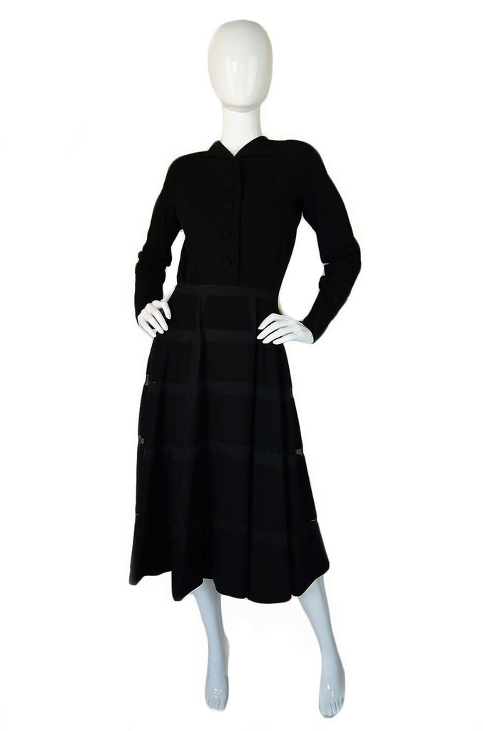 1940s Rare Castillo Window Pane Dress