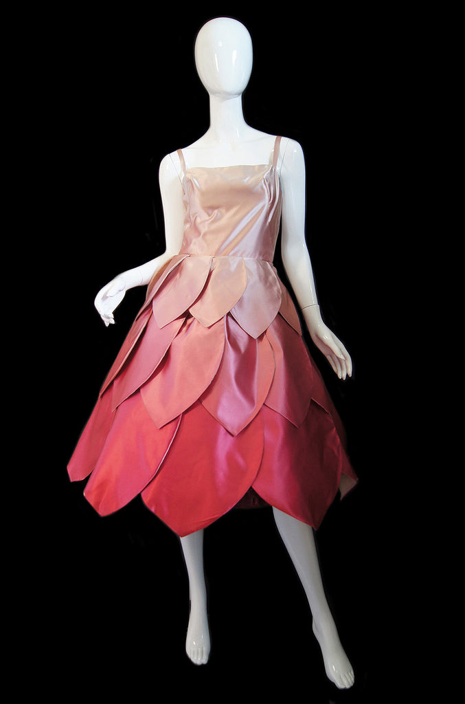 1950s Couture Pink Petal Dress & Jacket