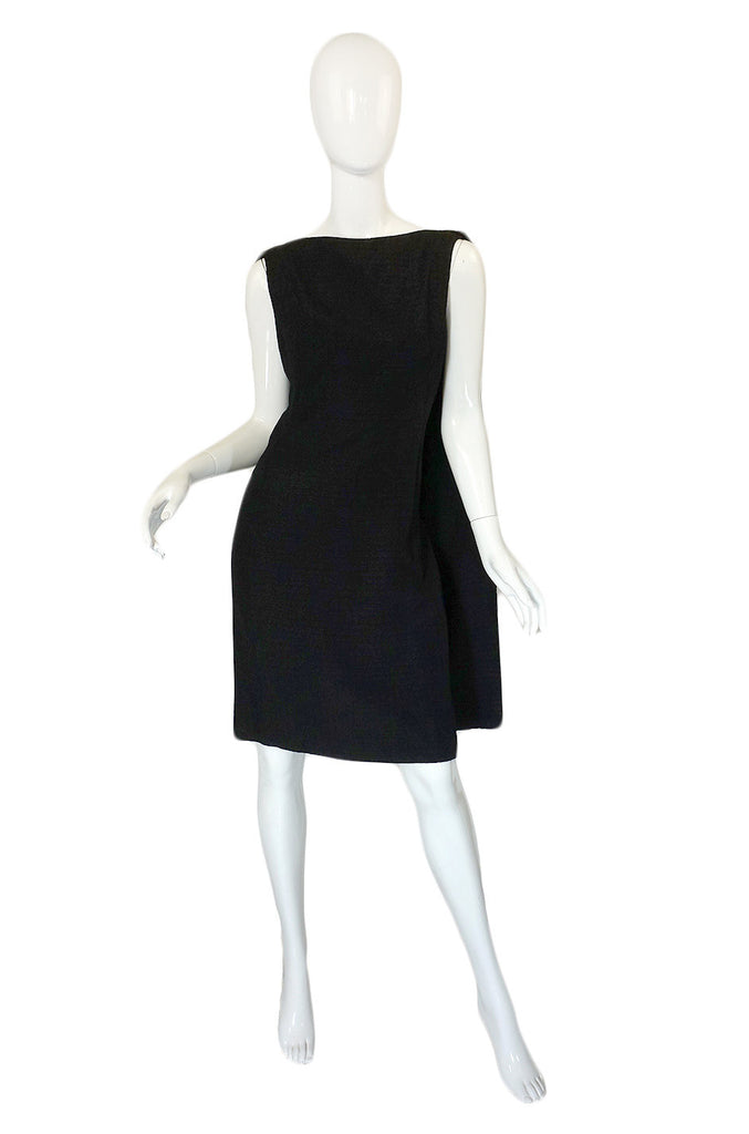 1950s Douglas Curry Caped Back Dress