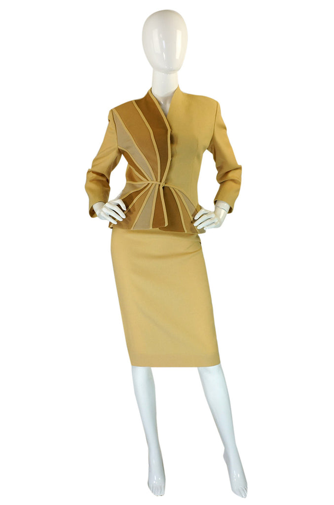1940s Lilli Ann Fitted Swirl Crepe Suit