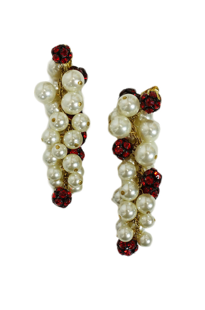 1950s Pearl Drops Earrings
