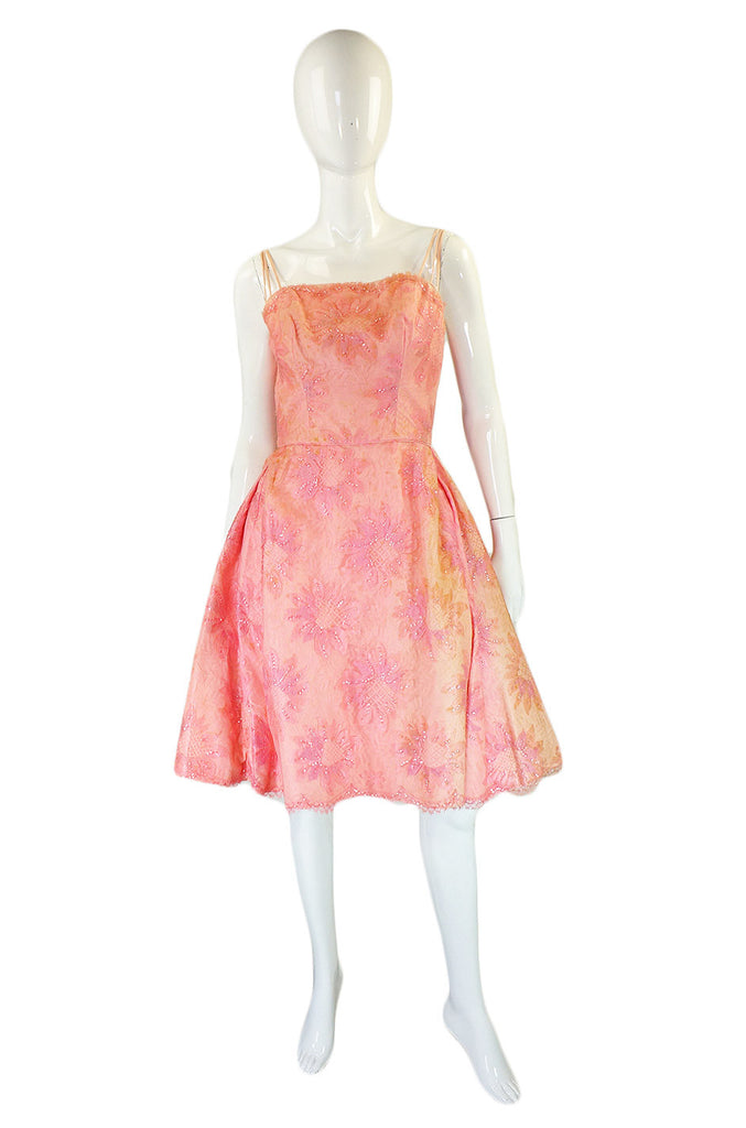 1950s Pink Lace Dance Dress
