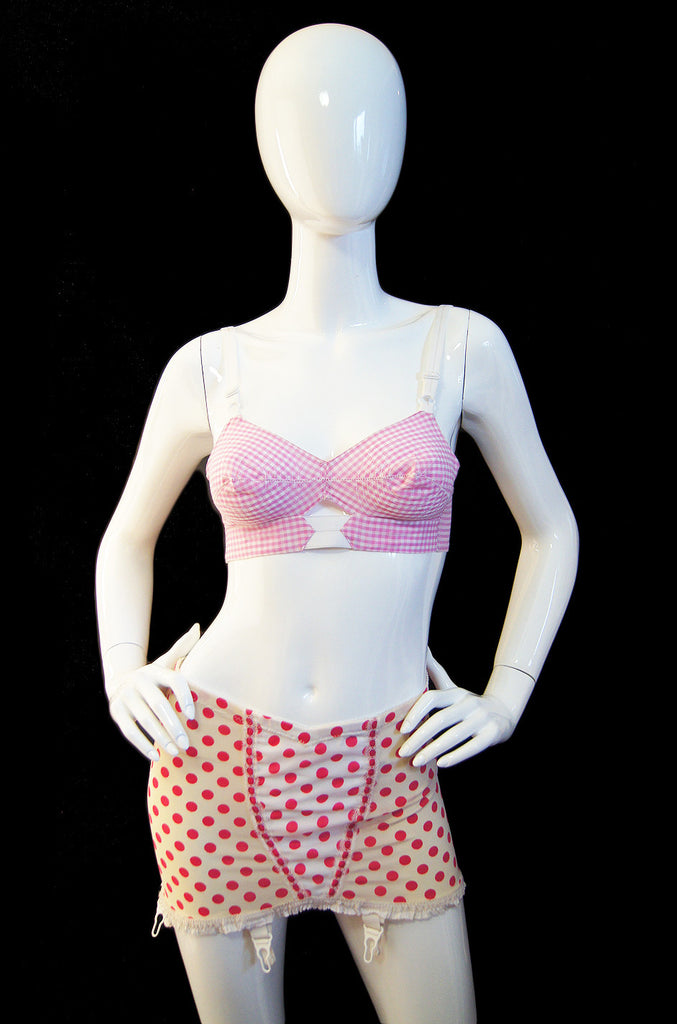 1950s Pin Up Pink Girdle & Bullet Bra