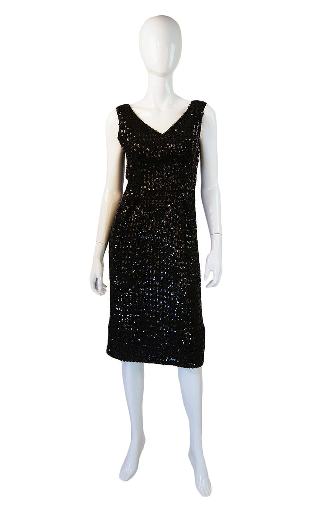 1950s Unusual Sequin Cocktail Dress