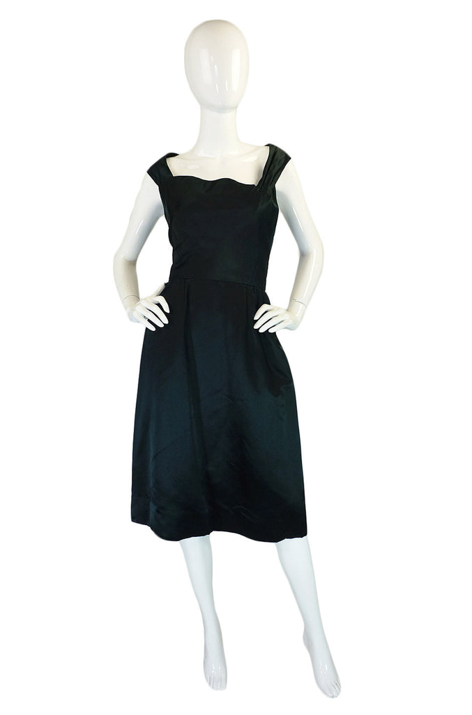 1950s Silk Satin Harvey Berin Dress