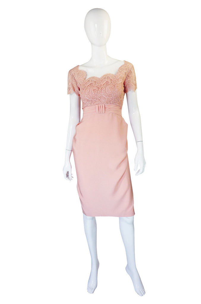 1950s Silk & Lace Emma Domb Dress