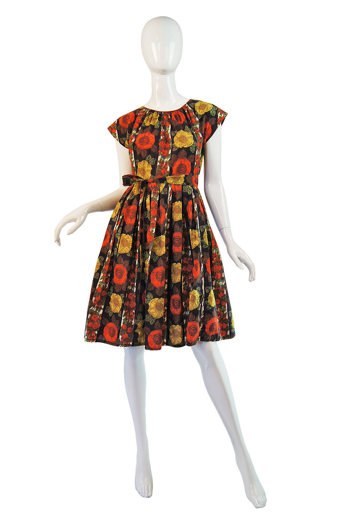 1950s Floral Print Wrap Sundress by Swirl
