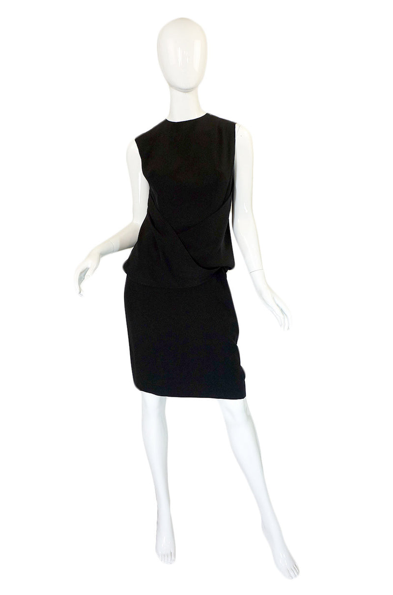 1950s Avant Garde Draped Silk Dress