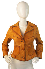 1960s Buckskin Novarese Leather Jacket