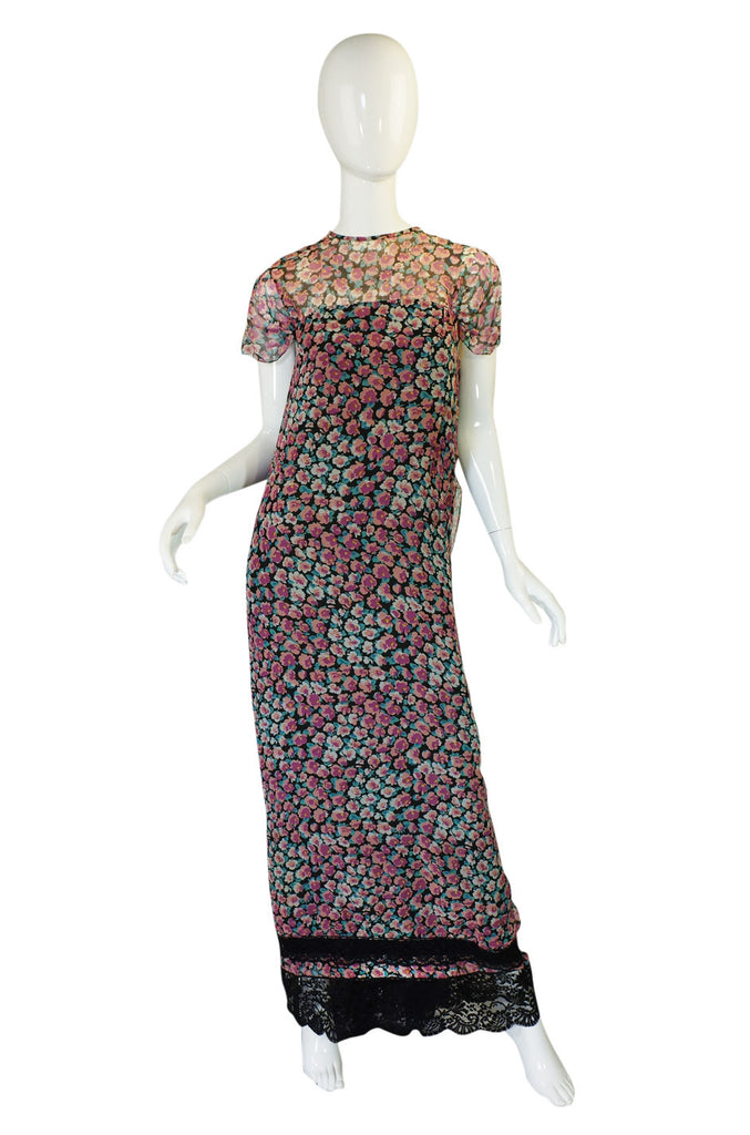 1960s Draped Back Victor Costa Maxi
