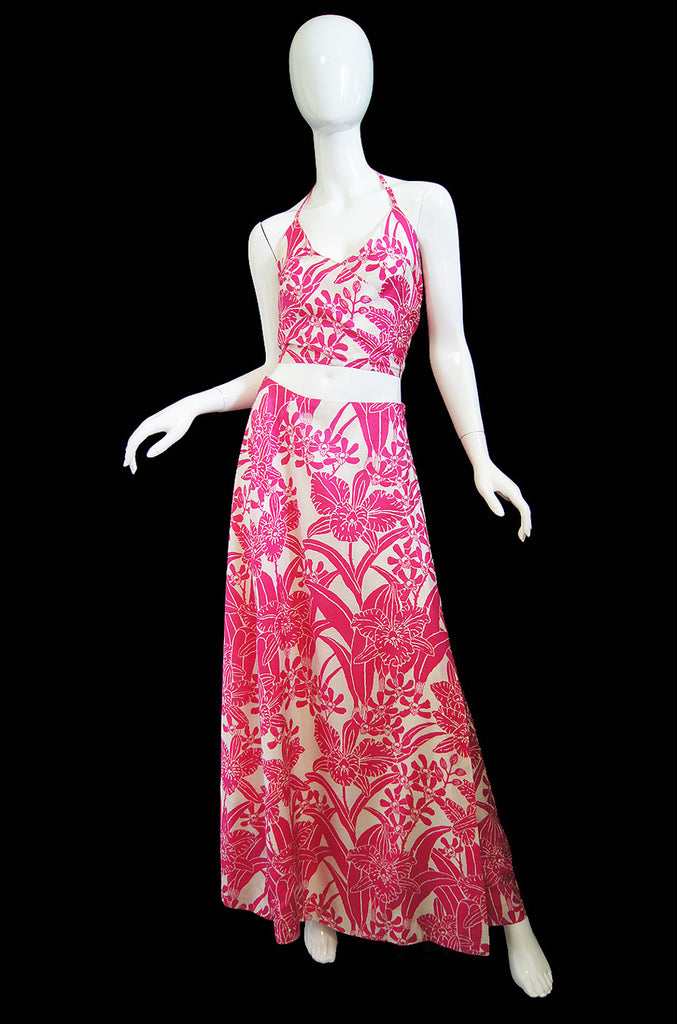 1960s Custom Thai Silk 4 Piece Pink Set
